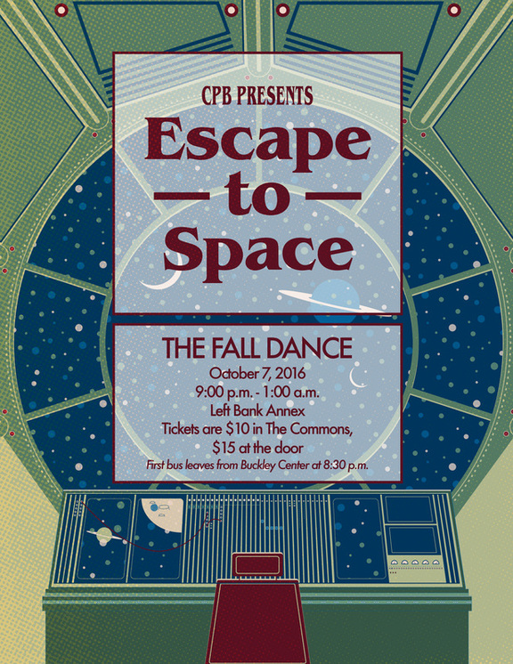 Escape to Space Event Poster by Rebekah Markillie